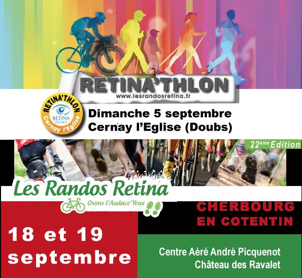 Les rendez-vous sportifs de la rentrée : Retina'thlon / les Randos Retina Cherbourg